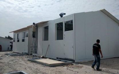Moyobamba: llegan aulas prefabricadas a zonas afectadas por lluvias